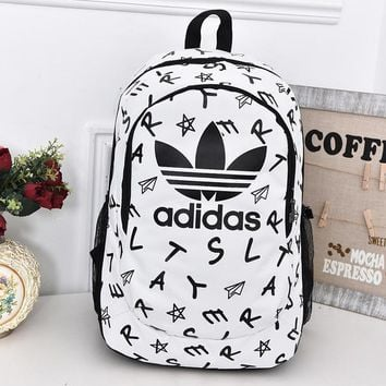 Adidas Fashion Print School Laptop Shoulder Bag Satchel Bookbag Backpack-5