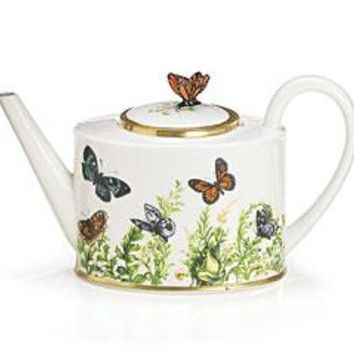 Wings of Grace Porcelain Tea Collection Teapot, Teacups and Saucers