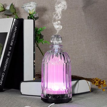 Fimei 120ml Decorative Glass Essential Oil Aromatherapy Diffuser with LED Lamp