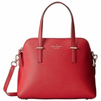 Kate Spade PXRU4471-616 Women's Cedar Street Maise Dynasty Red Leather Shoulder Bag