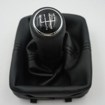 fast Shipping For 2002-2008 Volkswagen Polo 9N / 9N3 IV V 5-speed Gear Shift Knob Gaitor Boot Black V0025