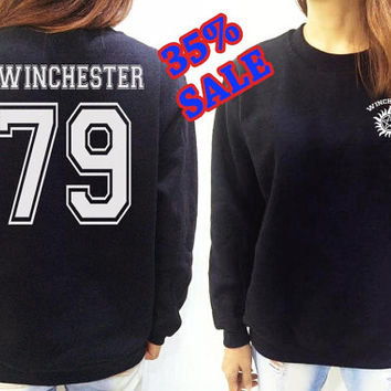 Dean Winchester SweatShirt Supernatural Black Shirt Clothing Long Sleeve UNISEX Women Men