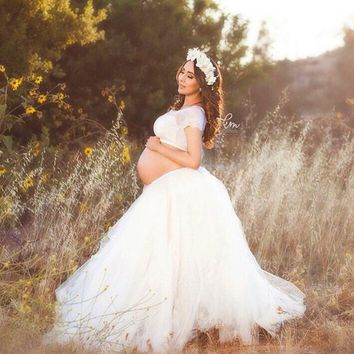 Maternity Tutu Skirt Maternity Photography Props Fashion Maternity Ball Skrit photography Props Lace Pregnancy Woman Photo Shot