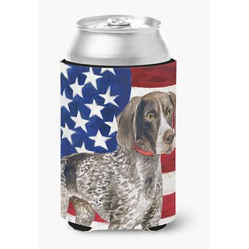 German Shorthaired Pointer Patriotic Can or Bottle Hugger BB9641CC
