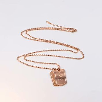 GUCCI rose gold hypoallergenic non-fading fashion trend necklace F-HLYS-SP