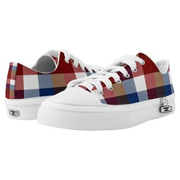 Creative Plaid Mixes Low-Top Sneakers