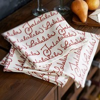 Fa La La Napkin, Set of 4
