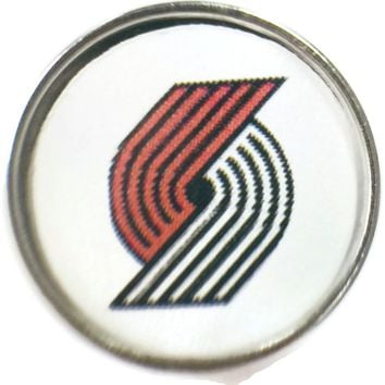 NBA Basketball Logo Portland Trail Blazers 18MM - 20MM Fashion Snap Jewelry Snap Charm New Item