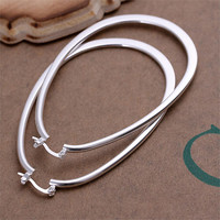 Silver Plated Big Hoop Earrings