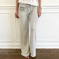 Monogram Sasha Striped Pants