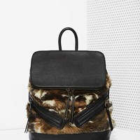 One Faux Fur the Road Backpack