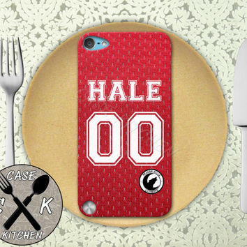 Teen Wolf Inspired Derek Hale Red Lacrosse Jersey Beacon Hills Rubber Case iPod 5th Generation and Plastic Case For The iPod 4th Generation