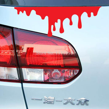 Bleeding Funny Car Sticker Auto Decal Car Accessories Sticker for Tesla ToyotaChevrolet Volkswagen Hyundai Kia Lada