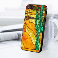 Cactus Stained Glass iPhone 5C Case
