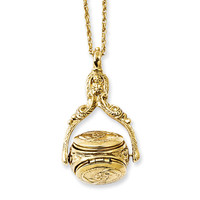 Gold-tone 3 Locket 30in Necklace