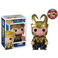 Funko POP! Marvel Avengers San Diego Comic Con 2012 EXCLUSIVE Golden Loki POP