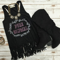 Pure Country Fringe Top