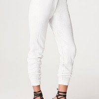 bebe Womens White Sequin Pants White