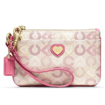 COACH HEART SMALL WRISTLET - Wallets & Wristlets - Handbags & Accessories - Macy's