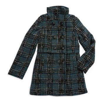 Jessica Simpson Girls 7-16 Plaid Wool Coat