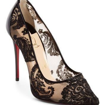 Christian Louboutin Follies Embellished Pointy Toe Pump (Women) | Nordstrom
