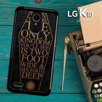 Bring Me The Horizon Coffin The House Of Wolves Quote F0353 LG K10 2017 / LG K20 Plus / LG Harmony Case