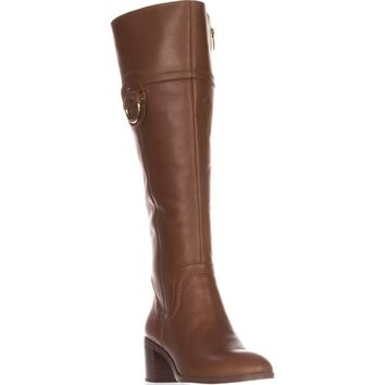 Franco Sarto Beckford Wide calf Knee-High Fashion Boots, Whiskey, 7 US / 37 EU