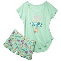Nerds® Juniors' Pajama Set - Mint