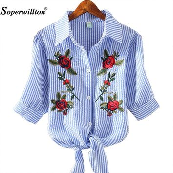 T Shirt Women 2017 New Embroidery Tshirt Female Floral T-Shirt Woman Summer Bow Casual Cotton Slim kimono Tops Women's Clothing