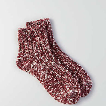 AEO Donegal Ankle Socks , Burgundy