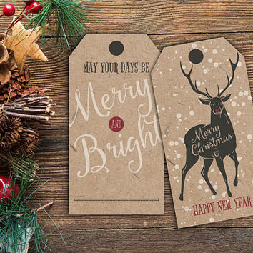 Scandinavian Christmas Tags / Holiday gift tags / Christmas tags / Scandinavian Tags / xmas favor tags / gift tags /Printable Christmas Tags