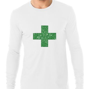 Simple Green Marijuana Dispensary Icon Awesome Men's Long Sleeve T-Shirt
