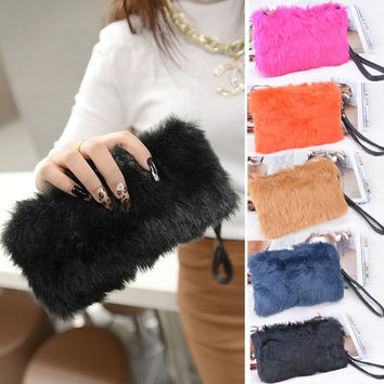 Shop Faux Fur Clutch Bags on Wanelo