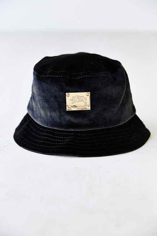 f03668e8695 Stussy X UO Velvet Bucket Hat- Black from Urban Outfitters