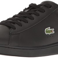 Lacoste Men's Carnaby Evo S216 2 Casual Shoe Fashion Sneaker Black/Dark Grey 8.5 D(M)