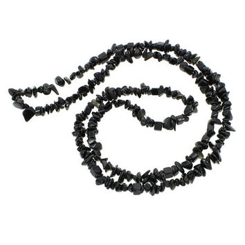 New Arrival Black tourmaline Freeform Chips Natural Stone Gems Jewelry Findings Beads Strand 34 inch