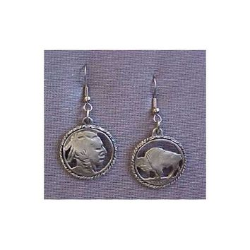 Closeout Sale Native American Indian Nickel Earrings ERW020RC