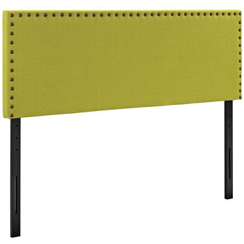 Wheatgrass Phoebe King Fabric Headboard
