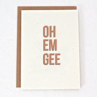 Oh Em Gee - OMG - Congrats - Celebration - Greeting Card