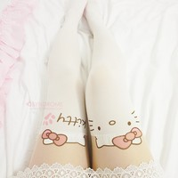 Hello Kitty Thigh High Tights