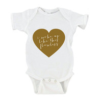 I Woke Up Like This Flawless Beyonce Hip Hop Funny Baby Onesuit