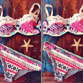 Cute Print Bathing Suit Swimming Suit