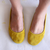 Simply Me  Handmade Leather ballet flat shoes by TheDrifterLeather