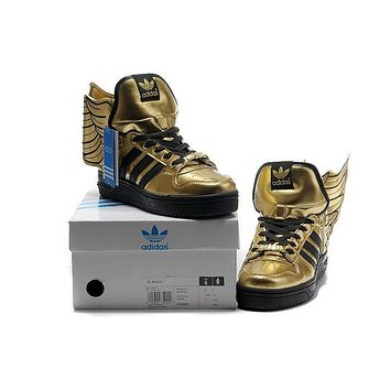 adidas Jeremy Scott wings 2.0 Black&gold Men Women Sneaker