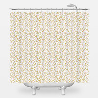 Gold Confetti Shower Curtain