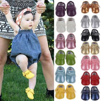 Spring Baby Shoes Newborn PU Leather Baby Moccasins Shoes For Girls Kids Newborn Boys