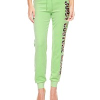 Logo Velour Juicy Couture Beach Slim Pant by Juicy Couture,