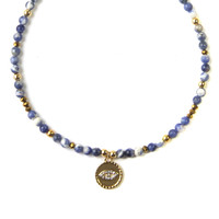 Eye in the Sky Beaded Choker