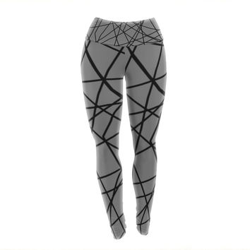 "Trebam ""Paucina v2"" Gray Black Yoga Leggings"