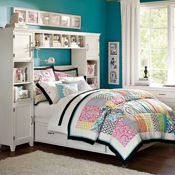 Bookcase Around Bed: Hampton Storage Bed + Bookcase Tower Set From PBteen